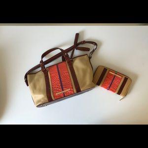 Brahmin Mini Asher Melbourne Satchel w/ wallet